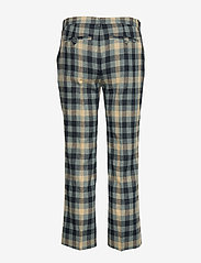 Whyred - CARNOT - slim fit trousers - blue check - 1