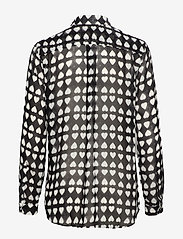 Whyred - KAROLINA DYED HEART - chemises à manches longues - black - 1