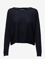 Whyred - FLORA - swetry - navy - 0