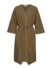 PARKA DRESS - DUSKY GREEN