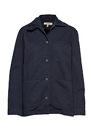 W ALAN SHIRT JACKET - CLASSIC NAVY