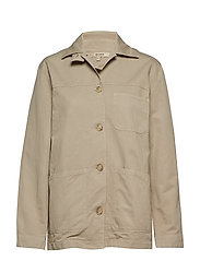 W ALAN SHIRT JACKET - GREY BEIGE