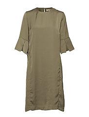 LILIAN DRESS - MILITARY GREEN