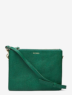 KIRA DOUBLE SNAKE - schoudertassen - green