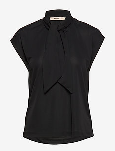 VITA JERSEY - short-sleeved blouses - black