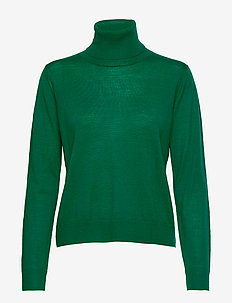 FLORA POLO MERINO - turtlenecks - green
