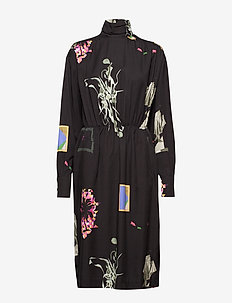 SETH BIG PRINT - midi kjoler - black