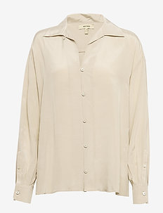 MELIA - long-sleeved shirts - beige