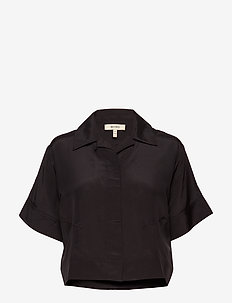 MACKENZIE - short-sleeved blouses - black