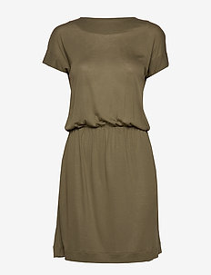 LOST - midi kjoler - military green