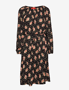 PENNY BLOSSOMY - midi dresses - black