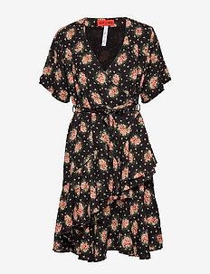 DANICA BLOSSOMY - slå-om-kjoler - black