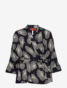 LARA POPPIES - kimonos - classic navy