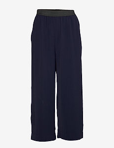 POTTER SOLID - wide leg trousers - classic navy