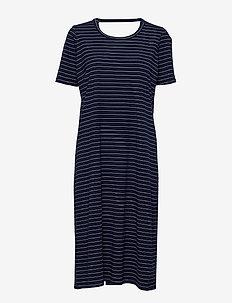 FONDA DRESS STRIPE - midi kjoler - classic navy