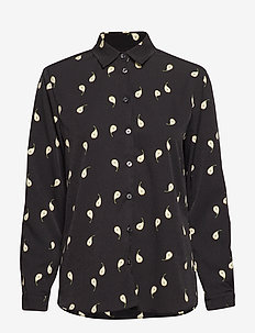 KAROLINA PEAR PRINT - long-sleeved shirts - black