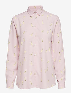 KAROLINA PEAR PRINT - long-sleeved shirts - lingonberry milk
