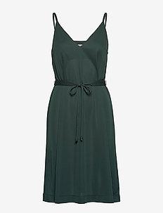 CORY JERSEY - midi kjoler - dark emerald
