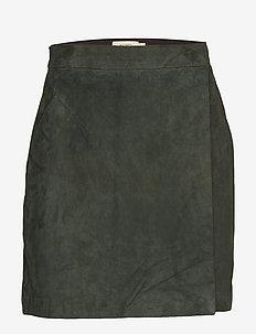 SIERRA SUEDE - short skirts - dark emerald