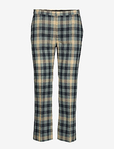 CARNOT - slim fit bukser - blue check