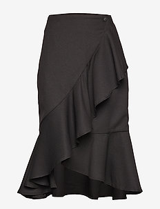 RYKER SOLID - spódnice do kolan i midi - black