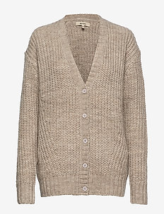 ADIE CARDIGAN MEGA KNIT - LIGHT GREY