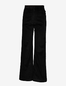 RUTH - wide leg trousers - black