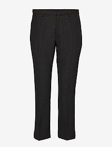 CARNOT - straight leg trousers - black