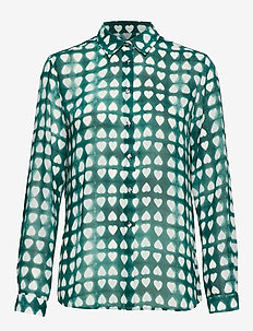 KAROLINA DYED HEART - long-sleeved shirts - cypress green