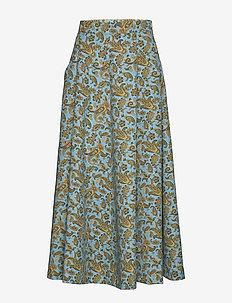 AVRIL PAISLEY PRINT - spódnice do kolan i midi - turquoise