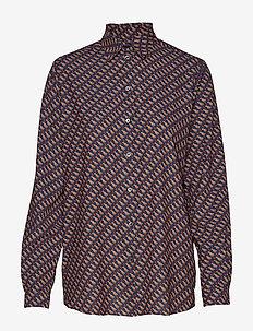 KAROLINA MOONDOG PRINT - long-sleeved shirts - classic navy