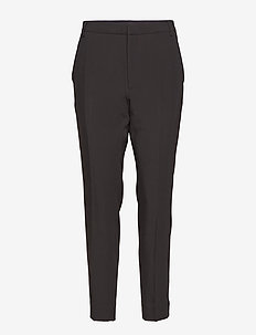BLUE - straight leg trousers - black