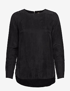 SIN - long sleeved blouses - black