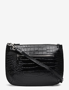 ONA CROCO - shoulder bags - black