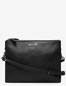KIRA DOUBLE SNAKE - shoulder bags - black