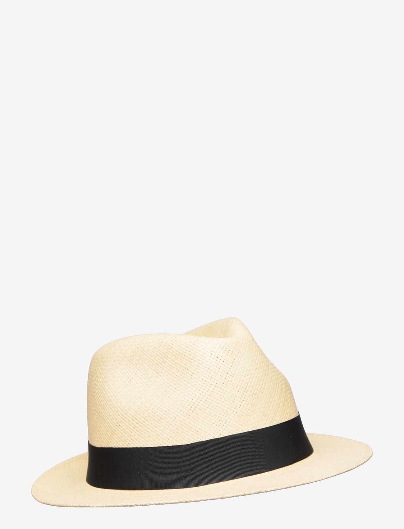 Wigéns - Panama Hat - chapeaux - black - 0