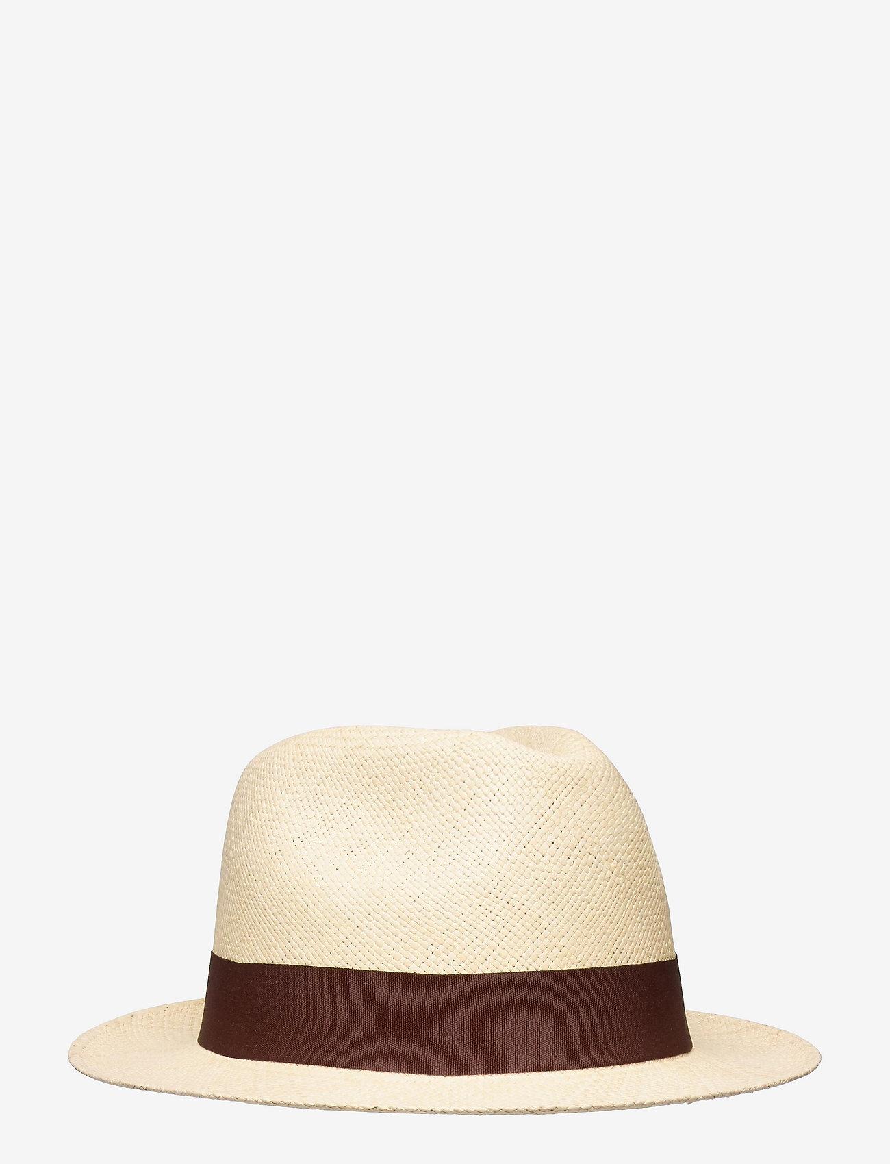 Wigéns - Panama Hat - chapeaux - dark brown - 0
