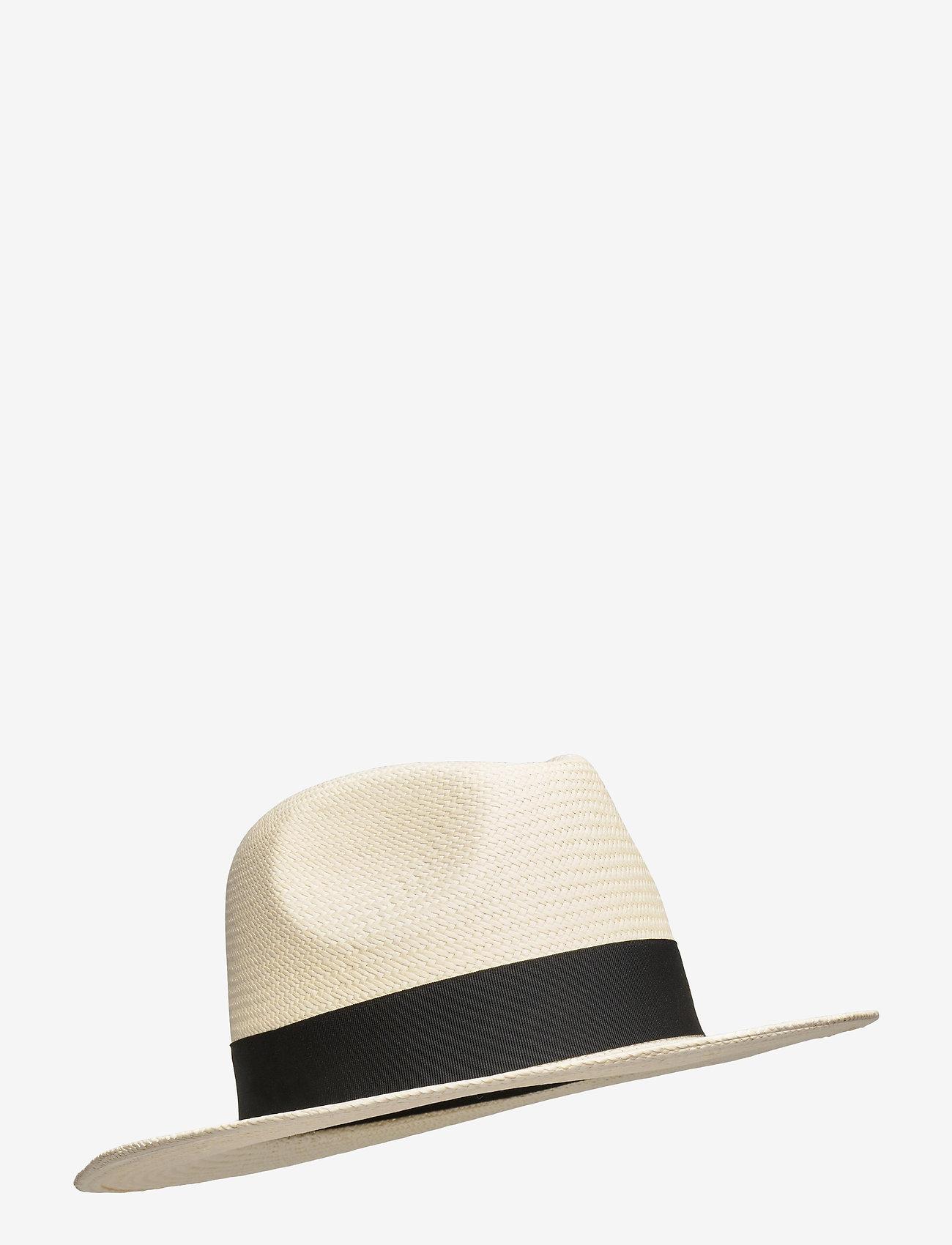 Wigéns - Fedora Panama Hat - chapeaux - black - 0