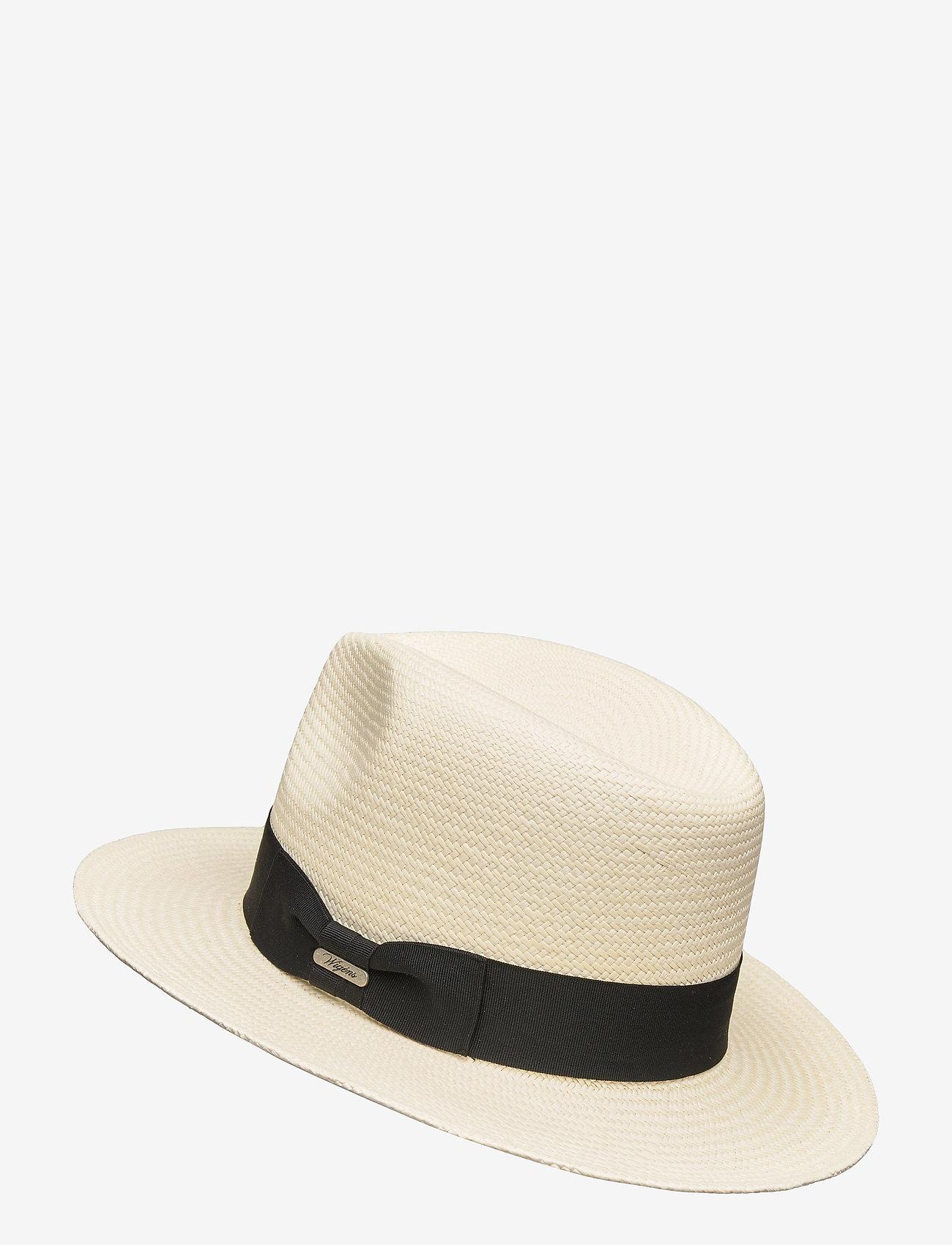 Wigéns - Fedora Panama Hat - chapeaux - black - 1