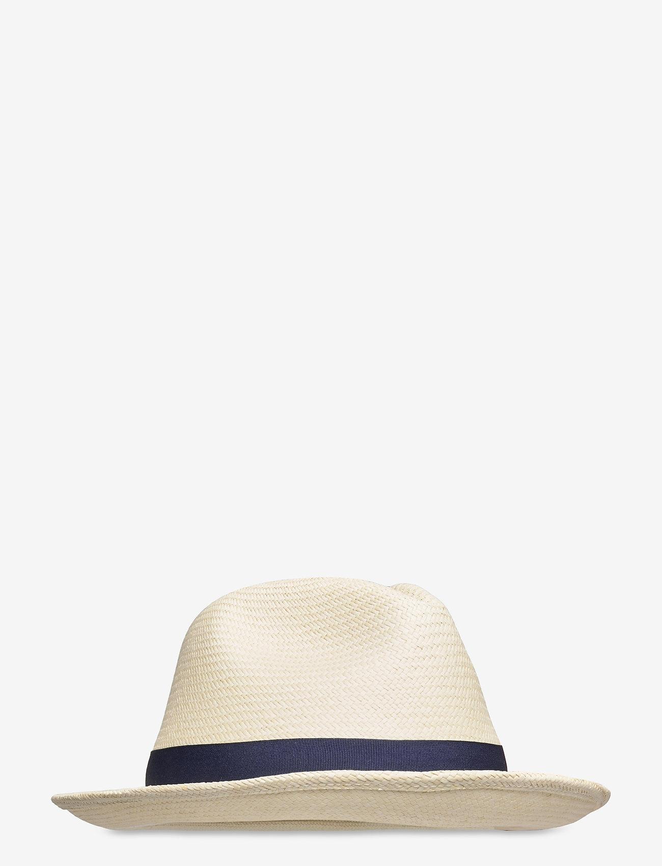 Wigéns - Panama Trilby Hat - chapeaux - navy - 0