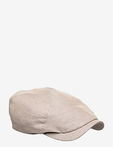 Newsboy Slim Cap - flat caps - dark camel
