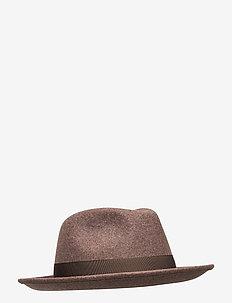 Fedora Wool Hat - chapeaux - brown melange