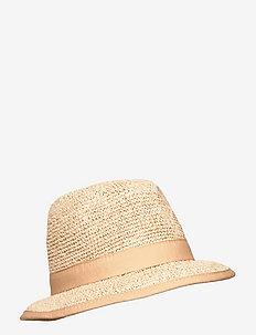 Trilby Hat - chapeaux - camel