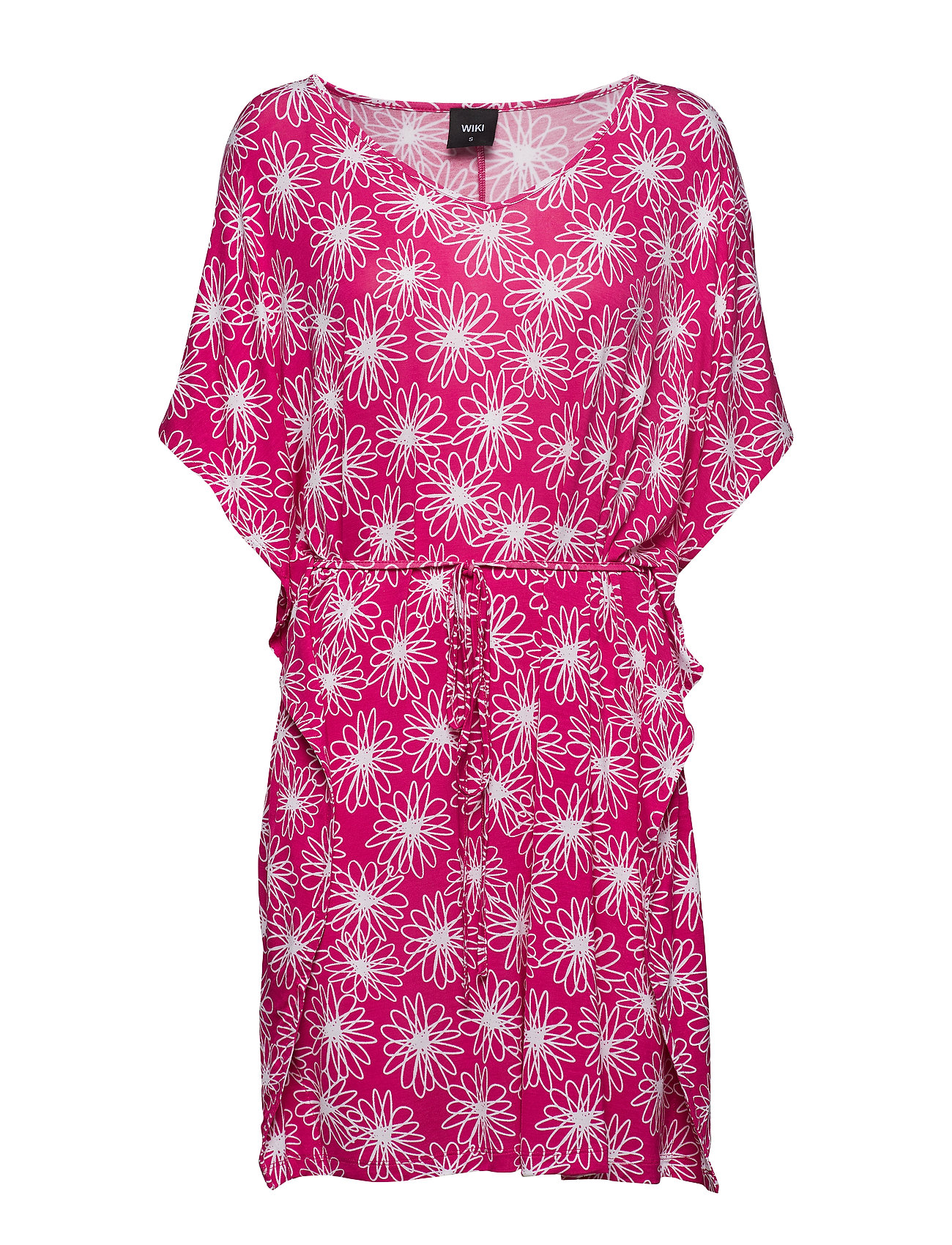Wiki Bamboo beach poncho - FLORAL PINK