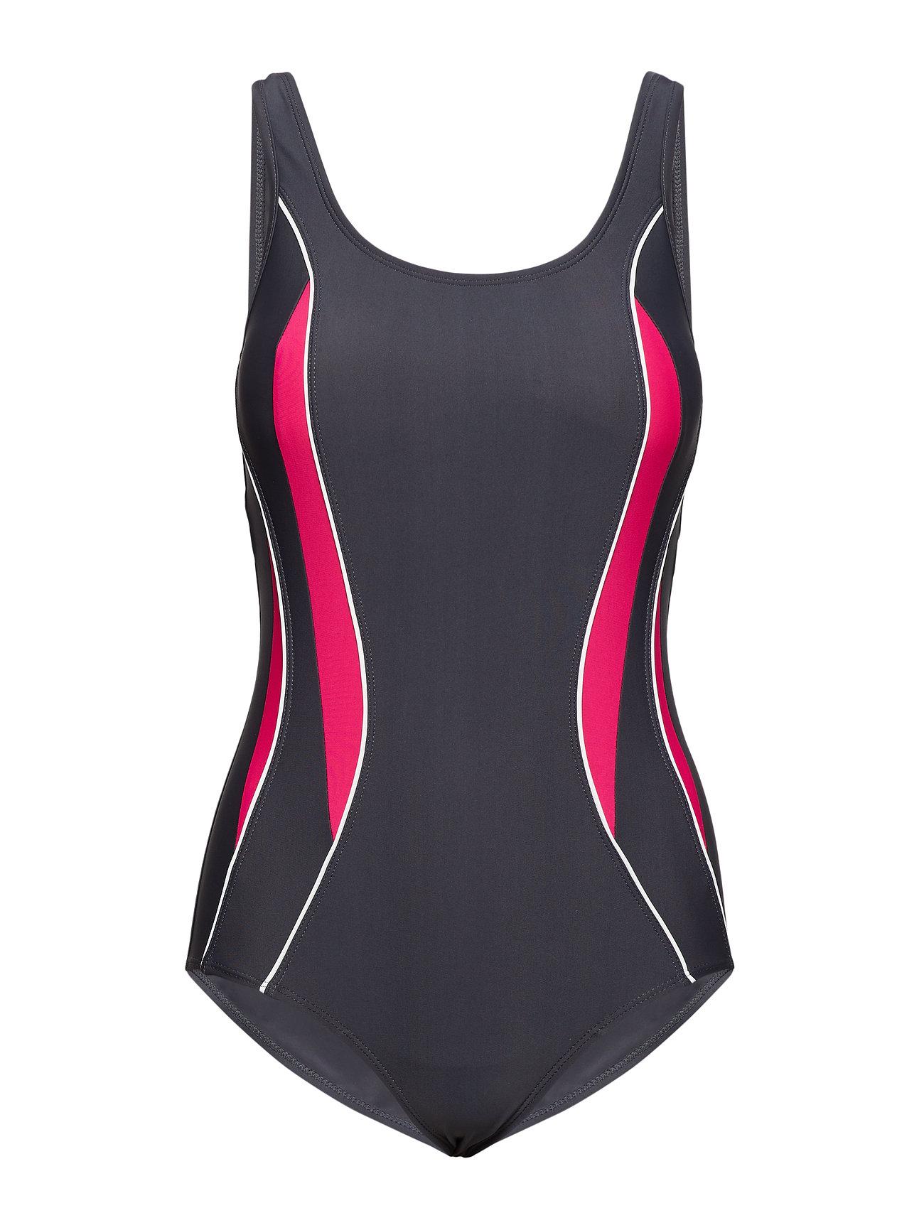 Wiki Swimsuit Alba Sport - STEEL/FUCHSIA