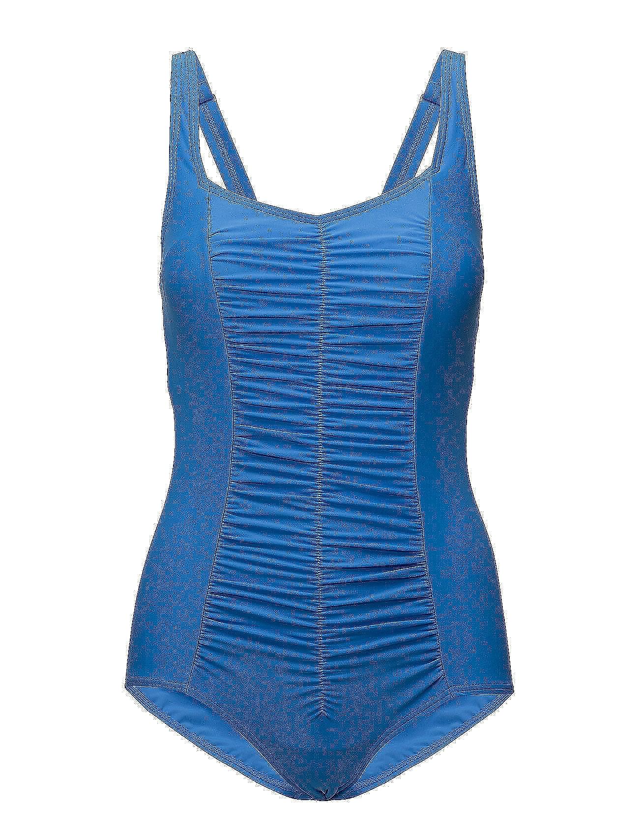 55882e439f2 Swimsuit Valentina Badedragt Badetøj Blå WIKI