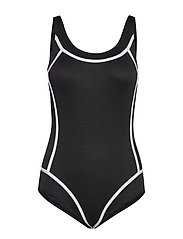 LUX Swimsuit Isabella - BLACK-WHITE