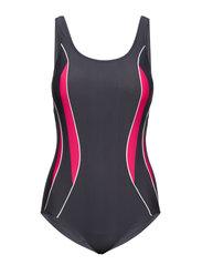 Swimsuit Alba Sport - STEEL/FUCHSIA