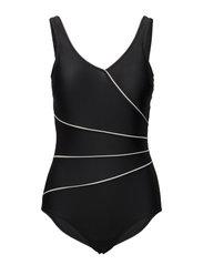 Swimsuit Daniella Classic - BLACK/WHITE