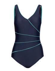 Swimsuit Daniella Classic - NAVY/AQUA